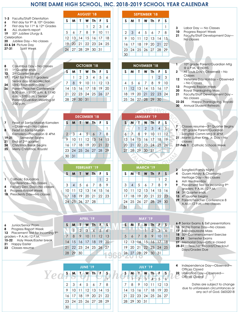 you are here home school year 2018 2019 calendar