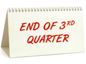 3rd Quarter Ends